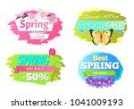 spring big sale discounts 50 ... | Shutterstock .eps vector #1041009193