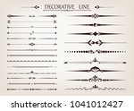set of vintage line with... | Shutterstock .eps vector #1041012427