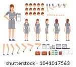 woman creation kit. create your ... | Shutterstock .eps vector #1041017563