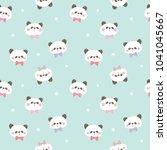 seamless pattern of cartoon... | Shutterstock .eps vector #1041045667
