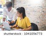 creative team job. young...   Shutterstock . vector #1041056773
