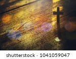 Close Up Of Wooden Cross On...