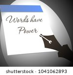 words have power. inscription... | Shutterstock .eps vector #1041062893
