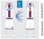 basketball jersey or sport... | Shutterstock .eps vector #1041064957