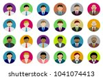 business person avatar... | Shutterstock .eps vector #1041074413