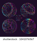 moving colorful lines of... | Shutterstock .eps vector #1041076567