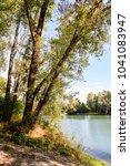 wild brenta river | Shutterstock . vector #1041083947