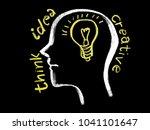 human head brain and light bulb ... | Shutterstock . vector #1041101647