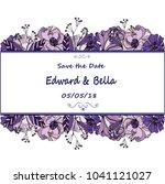 vintage wedding invitation....   Shutterstock .eps vector #1041121027