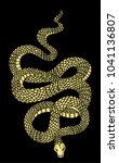 golden snake vector... | Shutterstock .eps vector #1041136807