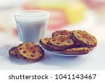 3d rendering of raisin cookies... | Shutterstock . vector #1041143467