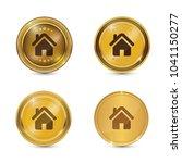 home circular gold vector web...   Shutterstock .eps vector #1041150277