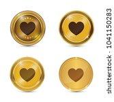heart circular gold vector web...   Shutterstock .eps vector #1041150283