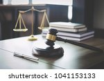scales of justice and gavel on... | Shutterstock . vector #1041153133