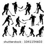 a set of detailed silhouette... | Shutterstock .eps vector #1041154603