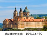 Melk Abbey is an Austrian Benedictine abbey and one of the world's most famous monastic sites - stock photo