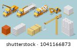 isometric industrial... | Shutterstock .eps vector #1041166873