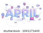 vector illustrate april. | Shutterstock .eps vector #1041171643