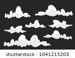 cloud vector icon set white... | Shutterstock .eps vector #1041215203