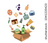 vector illustration of box with ... | Shutterstock .eps vector #1041220423