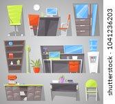 office furniture vector... | Shutterstock .eps vector #1041236203