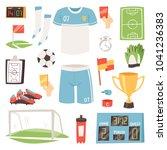 soccer vector footballer or... | Shutterstock .eps vector #1041236383