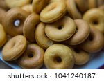 the many donuts. donuts dough... | Shutterstock . vector #1041240187
