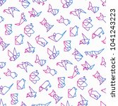 origami seamless pattern with...   Shutterstock .eps vector #1041243223