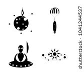 icon cosmos with cosmic  space  ...   Shutterstock .eps vector #1041244537