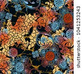 seamless beautiful floral... | Shutterstock . vector #1041253243