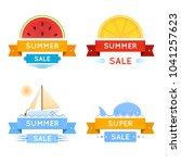 bright summer discount banners  ... | Shutterstock .eps vector #1041257623