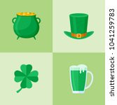 set of saint patrick's day flat ... | Shutterstock .eps vector #1041259783