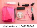 set of equipment for manicure ... | Shutterstock . vector #1041270043