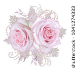 decorative decoration  paisley... | Shutterstock . vector #1041274333