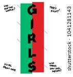 typography slogan girls  for t...   Shutterstock .eps vector #1041281143