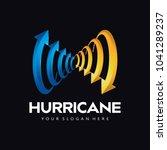 hurricane arrow logo icon | Shutterstock .eps vector #1041289237