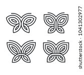set of four stylized geometric... | Shutterstock .eps vector #1041302977