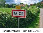 taiz   taize   french commune... | Shutterstock . vector #1041312643