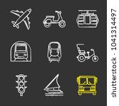 public transport chalk icons... | Shutterstock .eps vector #1041314497