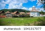 rural village of mesendorf  ...   Shutterstock . vector #1041317077
