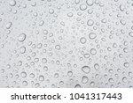 water drops on metal surface | Shutterstock . vector #1041317443