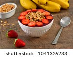 acai berry bowl with... | Shutterstock . vector #1041326233