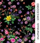 watercolor roses bouquet | Shutterstock . vector #1041332083
