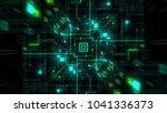 abstract futuristic sci fi warp ... | Shutterstock . vector #1041336373