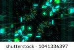 abstract futuristic sci fi warp ... | Shutterstock . vector #1041336397