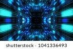 abstract futuristic sci fi warp ... | Shutterstock . vector #1041336493