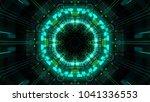 abstract futuristic sci fi warp ... | Shutterstock . vector #1041336553