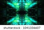 abstract futuristic sci fi warp ... | Shutterstock . vector #1041336607