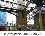 view from the liverpool station ...   Shutterstock . vector #1041345697