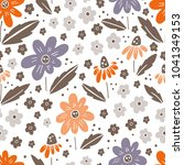 seamless vector floral pattern  ... | Shutterstock .eps vector #1041349153